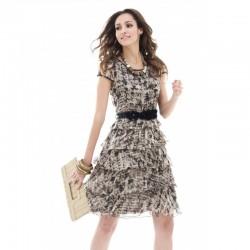 Print Dress 12334